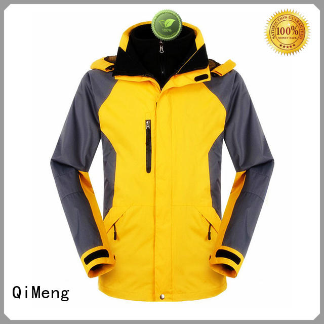polyester soft shell jacket waterproof for sports QiMeng