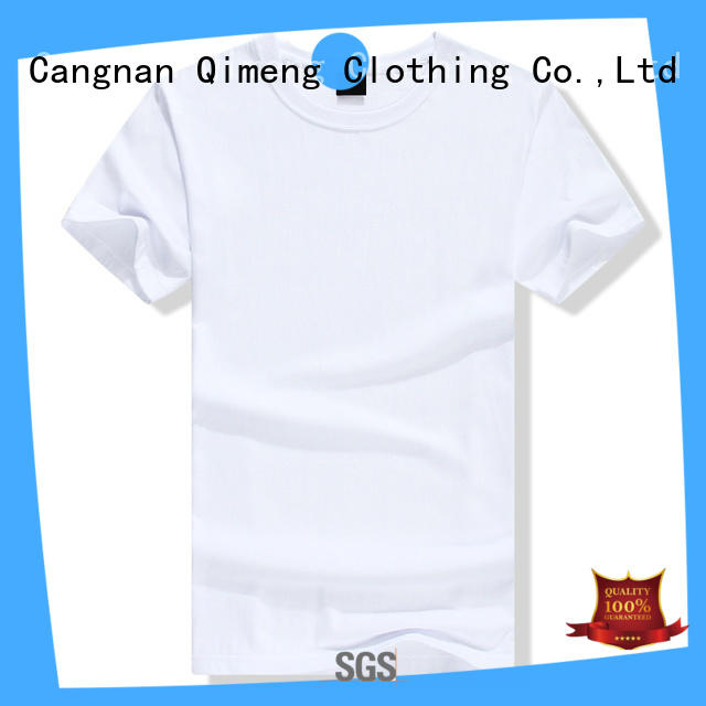 white o neck t shirt directly for team-work QiMeng