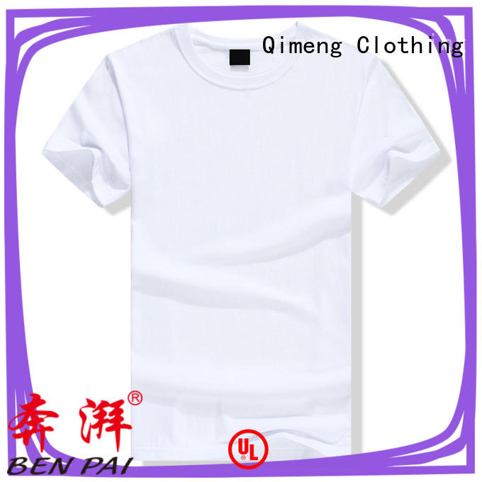 QiMeng printed custom printed tshirts owner for team-work