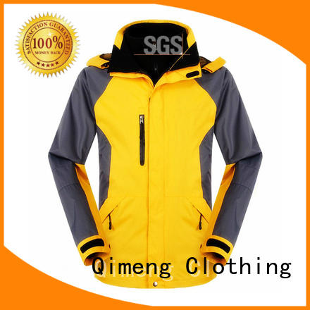 QiMeng prices custom embroidered jackets in different color in spring