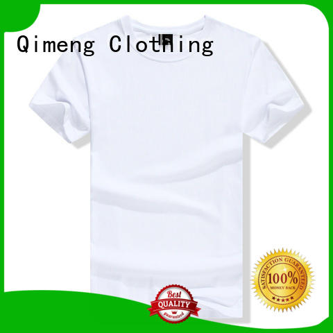 QiMeng customized wholesale t shirt printing on for outdoor activities