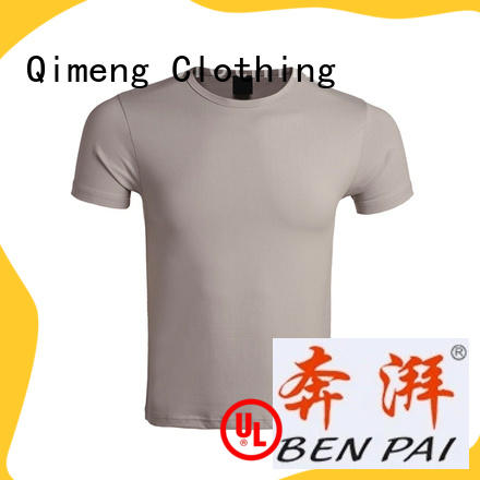 QiMeng promotional custom printed tshirts on for sports