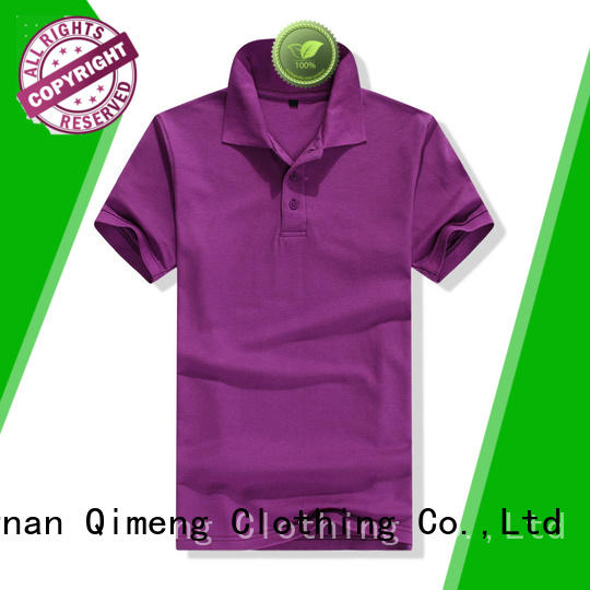 QiMeng modern blank polo shirts button design for business meetings