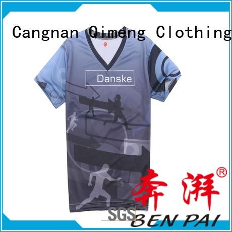 QiMeng shirt plain t shirts in different color for sports