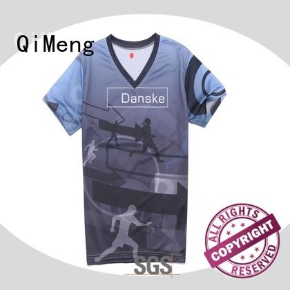 QiMeng customized mens t shirts in different color for outdoor activities