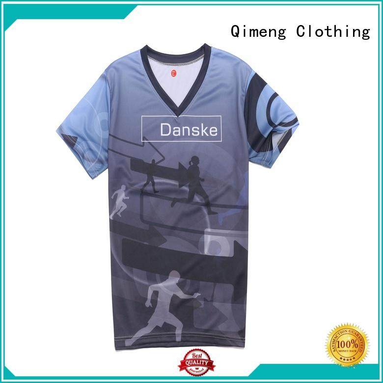 QiMeng sleeve plain t shirts in China in street