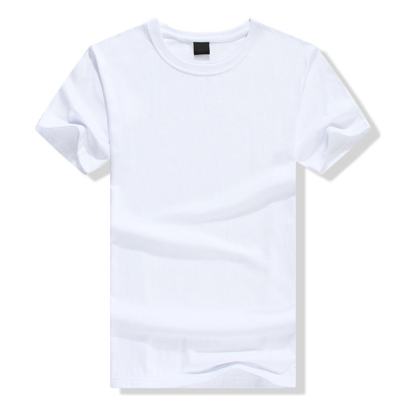 Custom Round Neck 100% Organic Cotton Short Sleeve Plain White t Shirt