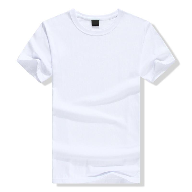 Custom Round Neck 100% Organic Cotton Short Sleeve Plain White t Shirt
