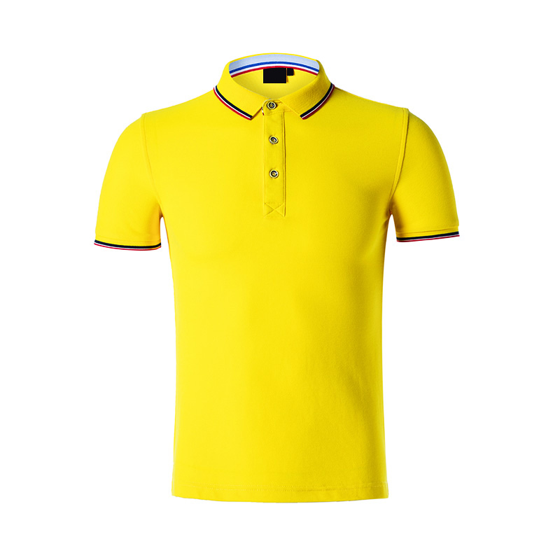 QiMeng tshirt cotton polo shirts mens in different color for team-work-2
