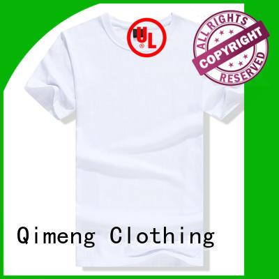 QiMeng 100%cotton custom printed t shirts shir