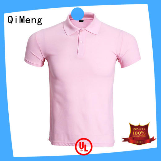 QiMeng clothes men t shirts polo factory for business meetings