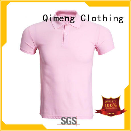 QiMeng golf polo shirt vendor for team-work