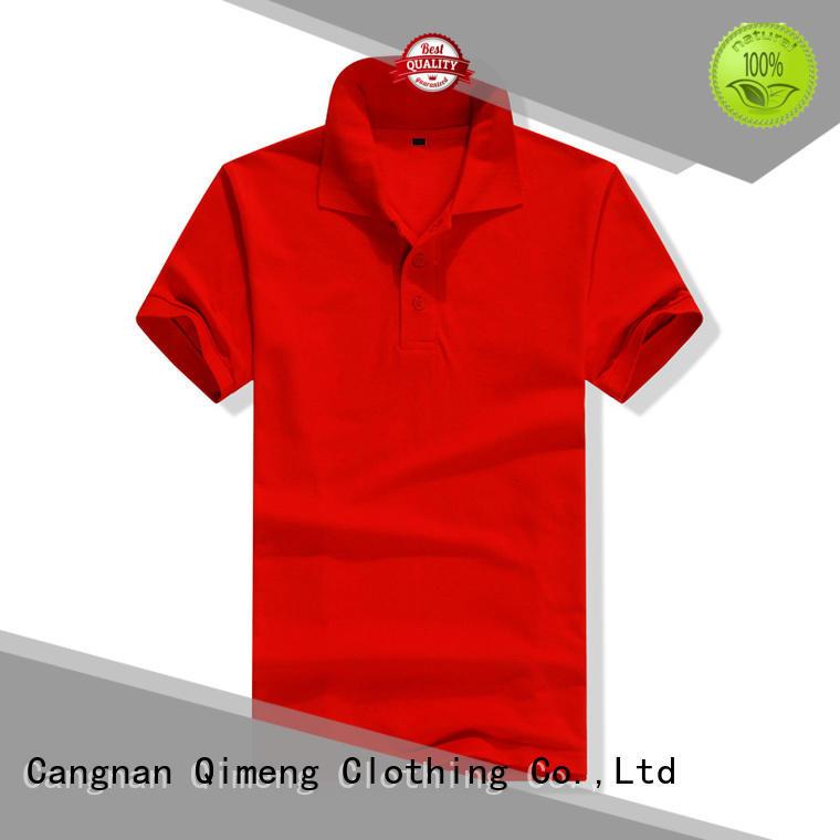 bulk custom print polo shirts for team-work QiMeng
