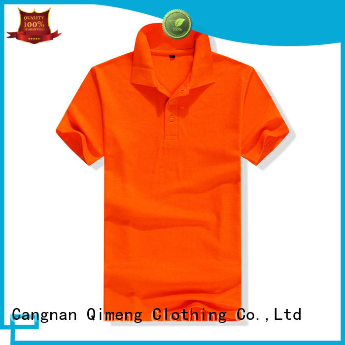 QiMeng promotional boys polo t shirts factory price for business meetings