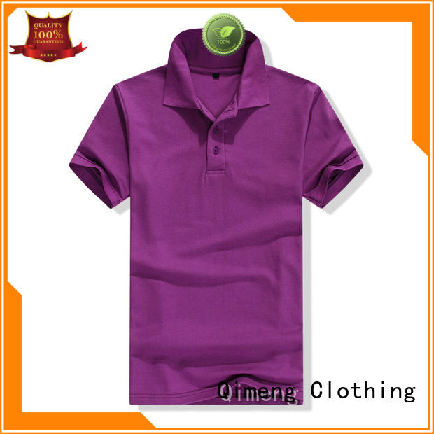 collared polo t shirts top QiMeng