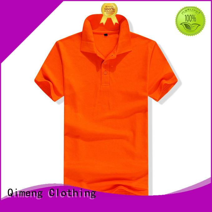 QiMeng bulk men golf polo shirt in different color for team-work