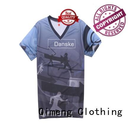 QiMeng fine- quality wholesale t shirt printing wholesale for outdoor activities