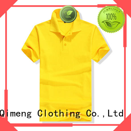 QiMeng 100%cotton polo t shirts wholesale polo for leisure travel
