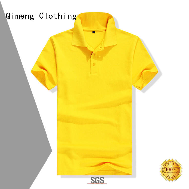 QiMeng first-rate collared polo t shirts factory price for outdoor activities