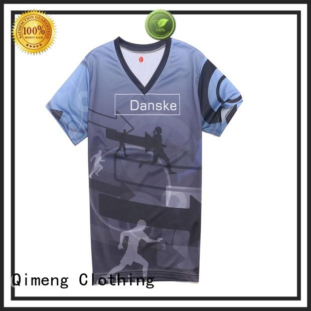 QiMeng stable custom cotton t-shirt in China for sports
