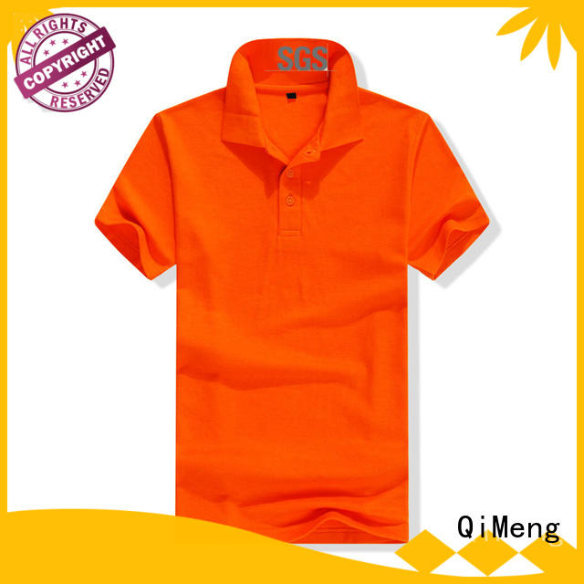 promotional custom made polo shirts cvc for daily wear QiMeng