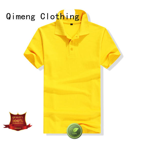 QiMeng new-selling custom logo polo shirt in different color for promotional campaigns