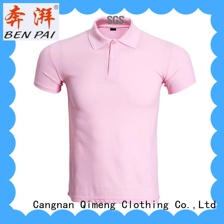 QiMeng fashion polo t-shirts wholesale manufacturer for daily wear
