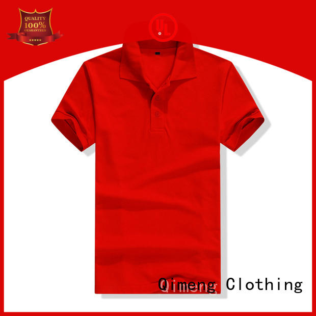 QiMeng poloneck wholesale polo shirts from China for leisure travel