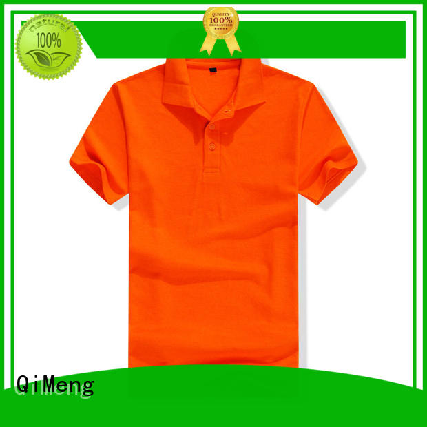 QiMeng 100%cotton personalized polo shirts from China for team-work