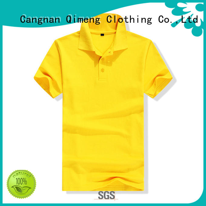 cvc custom polyester polo shirts directly sale for leisure travel QiMeng