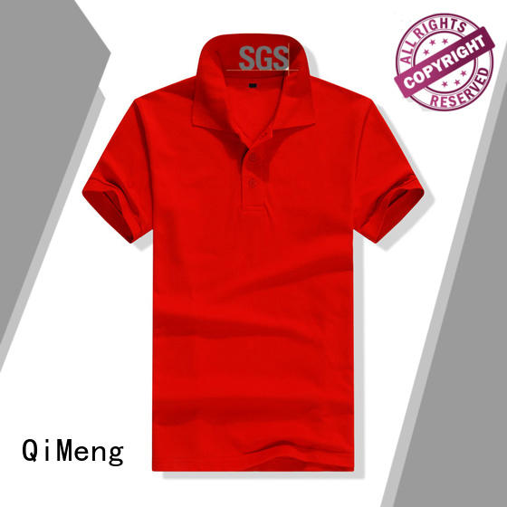 QiMeng bulk custom polyester polo shirts vendor for outdoor activities