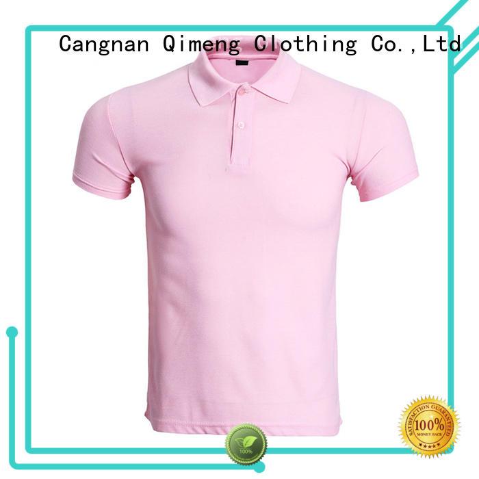 QiMeng modern polo sport t shirts fashion for team-work