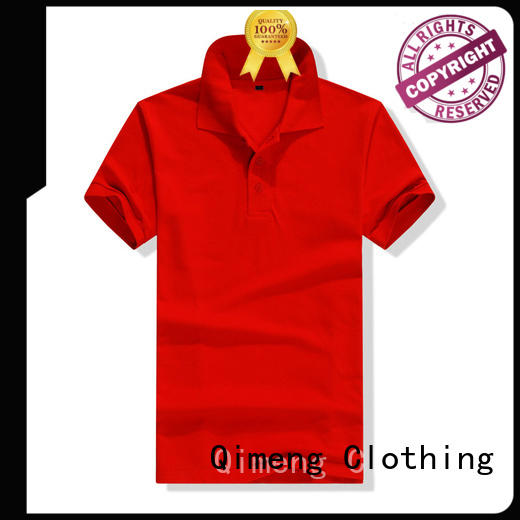 QiMeng button polo design shirt vendor  for business meetings