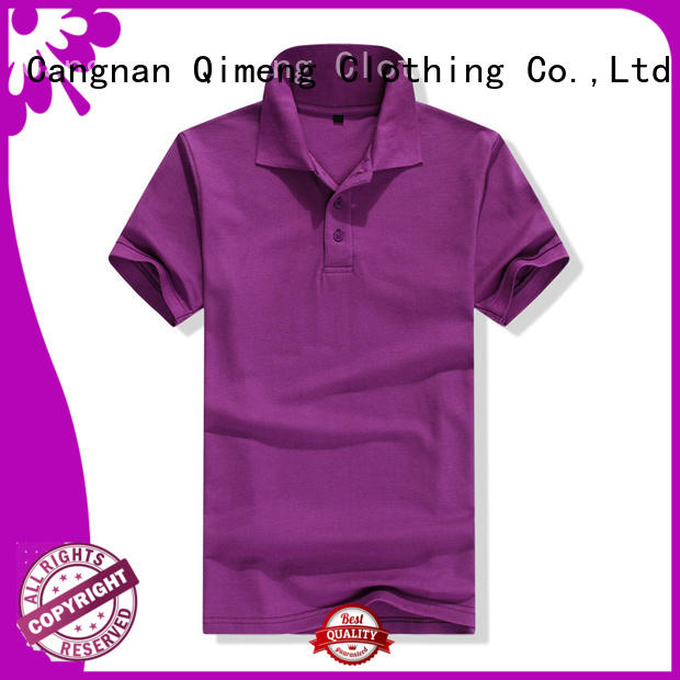 QiMeng new-coming promotion polo shirts mens  for business meetings