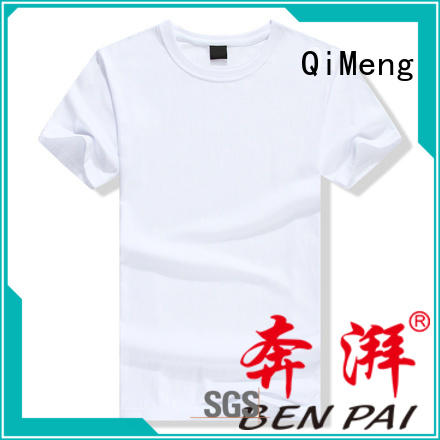 QiMeng promotional custom tee shirts on sale for daily wear