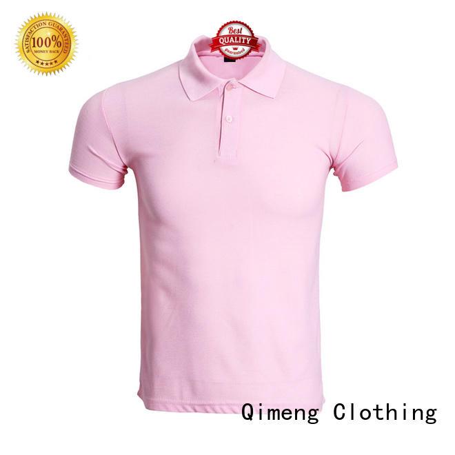 QiMeng poloneck men polo t-shirts vendor for leisure travel