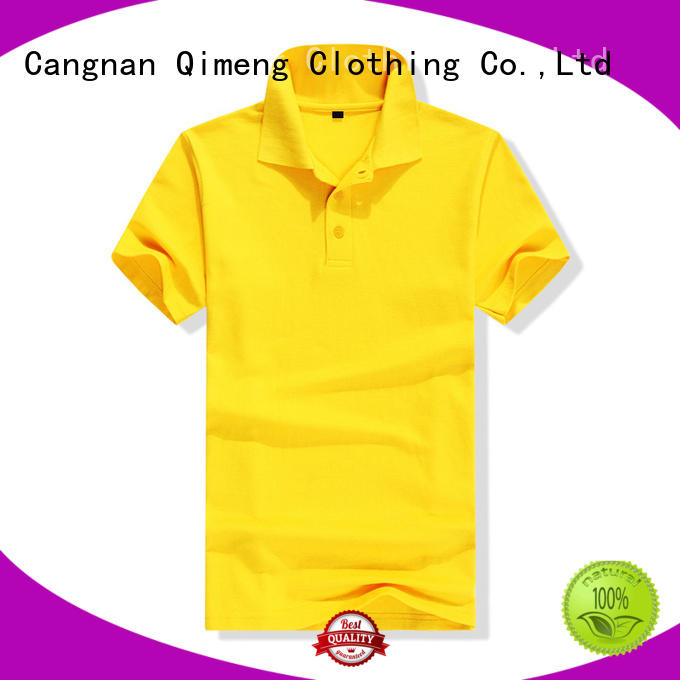 QiMeng bulk polo shirts without logo vendor for daily wear