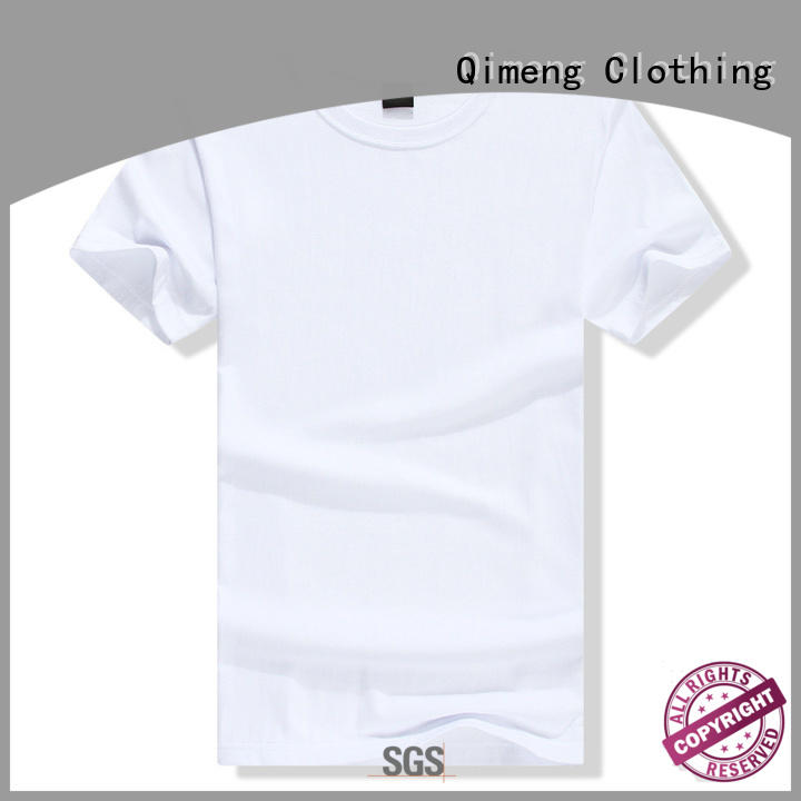 QiMeng sleeve t shirts free samples owner in street