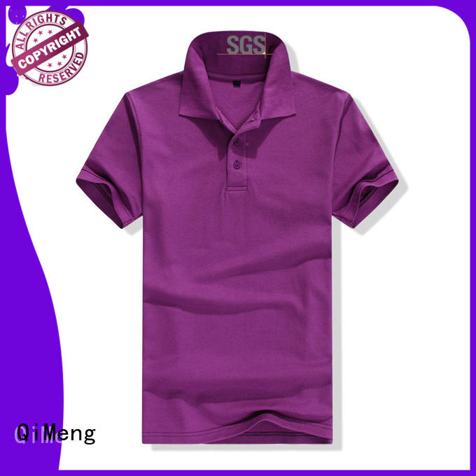 QiMeng 100%cotton collared polo t shirts quality for promotional campaigns