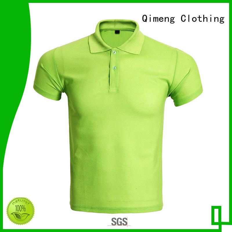 QiMeng quality ladies polo shirts button design