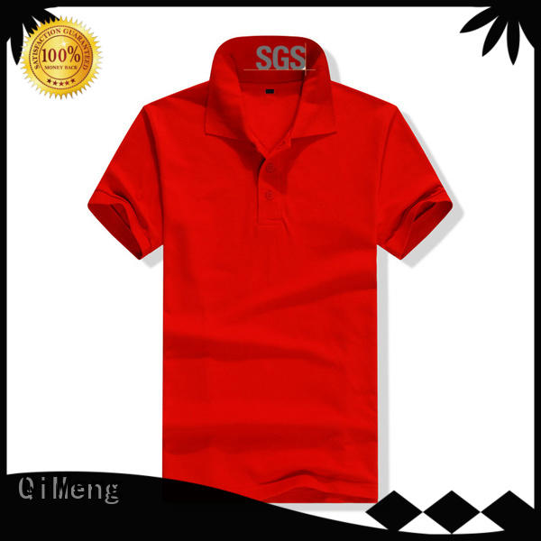 QiMeng attractive promotion polo shirts directly sale for team-work