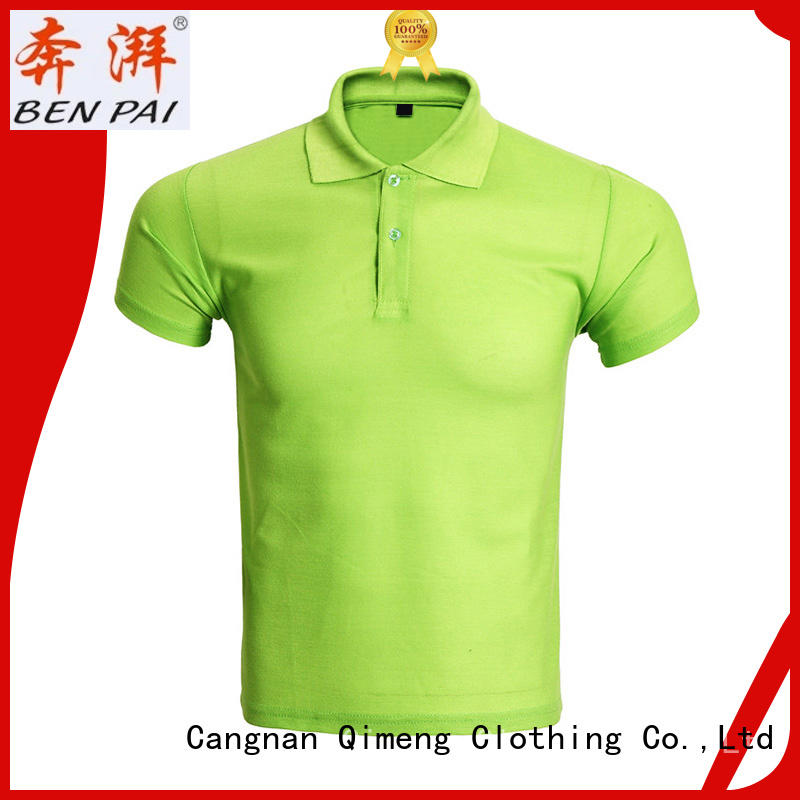 polyester collared polo t shirts special for leisure travel QiMeng