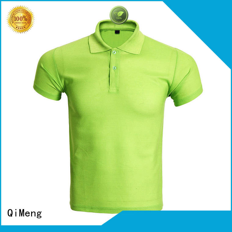 QiMeng promotional custom polo shirts supply for outdoor activities