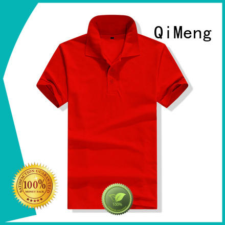 QiMeng new-selling custom logo polo shirt button design  for business meetings