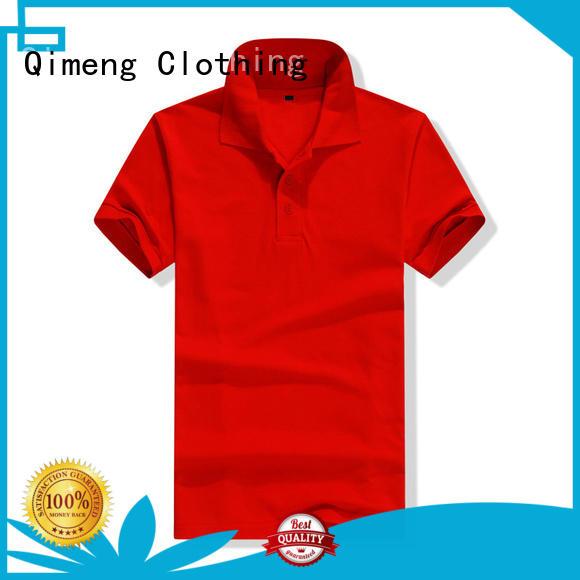 QiMeng promotional men polo t-shirts vendor for leisure travel