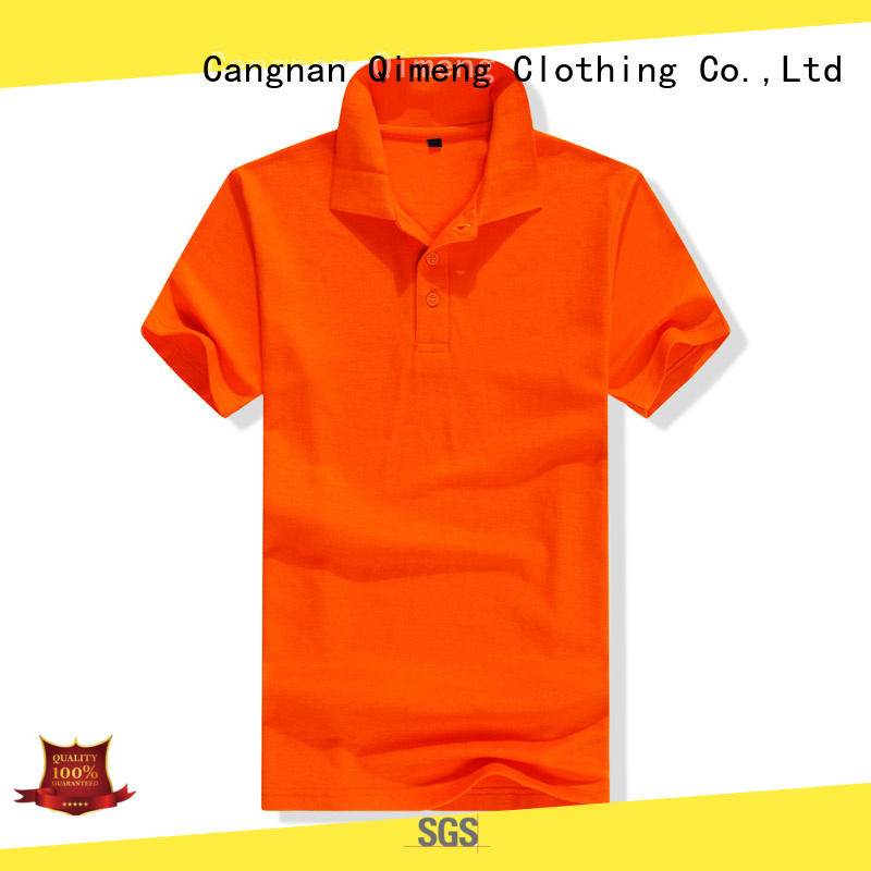 QiMeng bulk yellow polo t shirts button design for daily wear