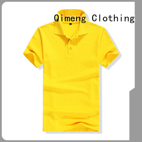 QiMeng new-selling yellow polo t shirts with many colors for leisure travel