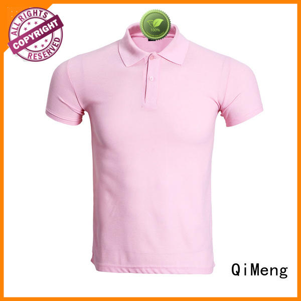 custom polyester polo shirts sleeve  for business meetings QiMeng