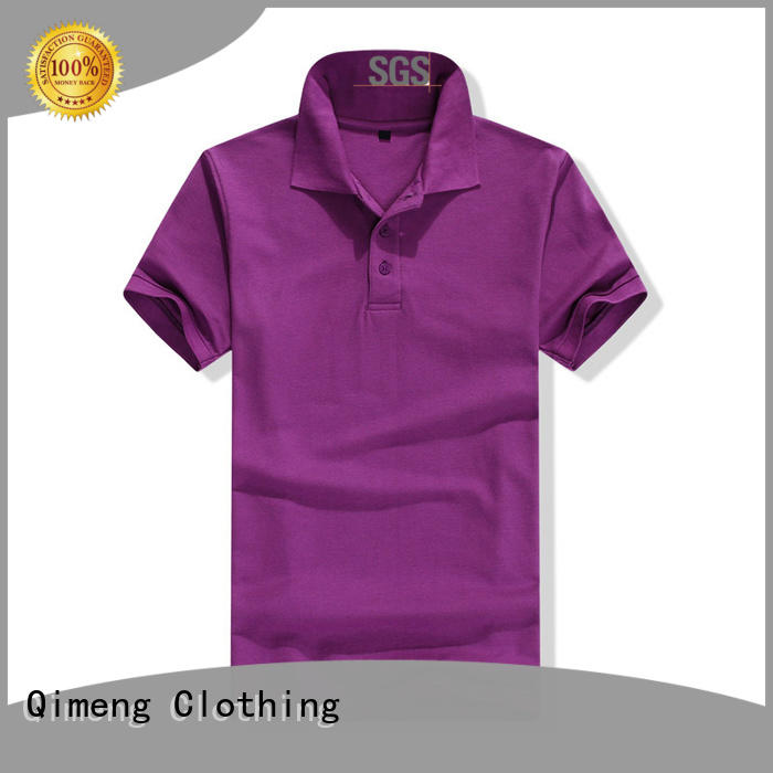 QiMeng sport custom embroidered polo shirts producer for outdoor activities