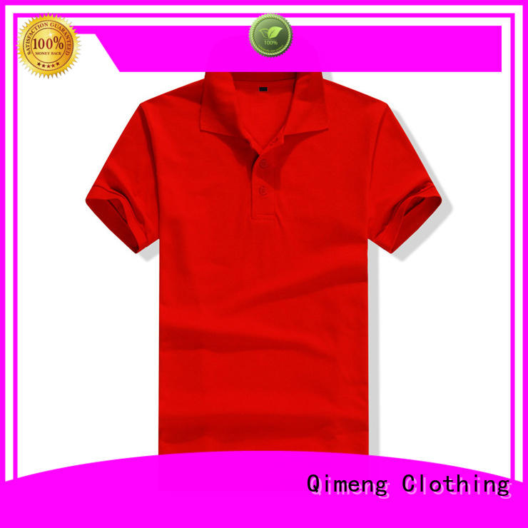 QiMeng design polo shirt 100% cotton  supply for team-work